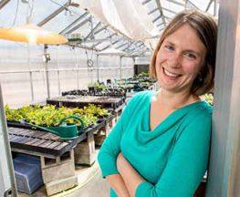 Liza Holeski at greenhouse