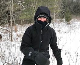 Amy Whipple enjoying the snow