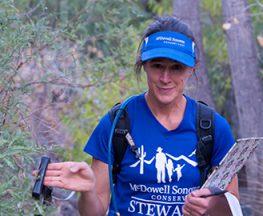 Helen Rowe conducting field work